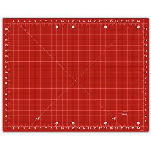 Small Double Sided Cutting Mat Red