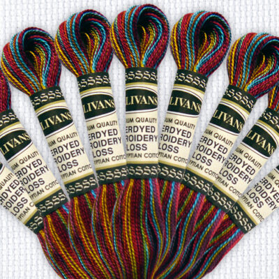 Overdyed Embroidery Floss